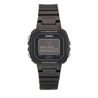 Casio Women's Black Chronograph Alarm LCD Digital Watch