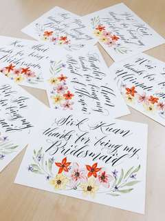 Custom Bridesmaid Cards (Thank you/Will you be my bridesmaid?)