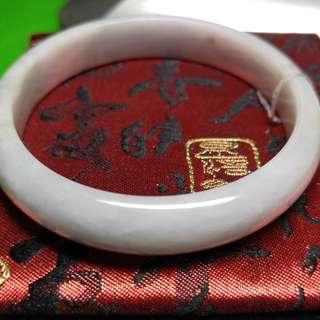 翡翠A玉手鐲 58.4mm 有石紋 天然光下不顯 不扣手