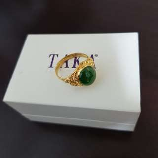 Genuine Jade Ring (Pure Gold)