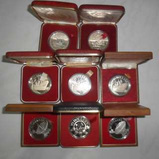 8x Singapore Unc $10 Proof Coin