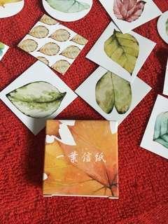 DIY Schedule sticker set - leafs