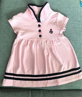 Girl pink dress (9-12 months old)