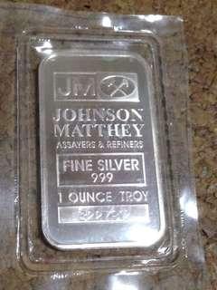 JM Johnson Matthey Fine Silver 999