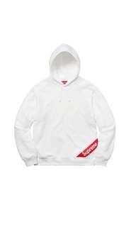 購自香港,有單可出示。Supreme Corner Label Hooded Sweatshirt ( SS18 )