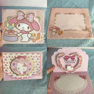 Last SET Each Hello Kitty My Melody Happy Birthday Card