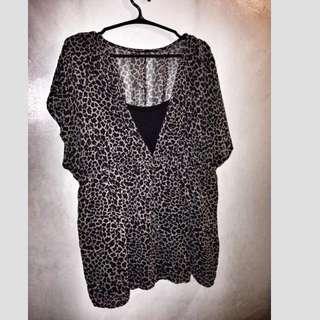 Leopard Print w/ Undershirt (sleeveless)