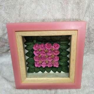 Pink Rose glass frame
