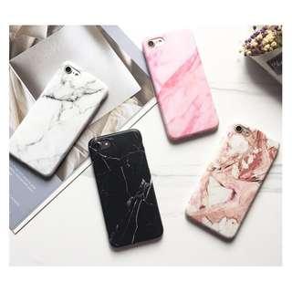 手機殼IPhone6/7/8/plus(沒有X) : 韓國簡約清新大理石紋磨砂軟殼