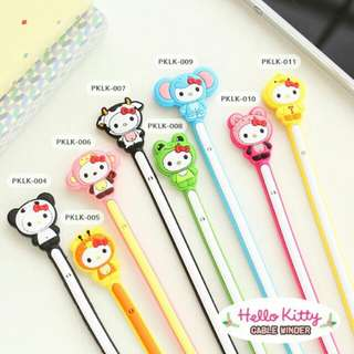 lilitan kabel hp hello kitty