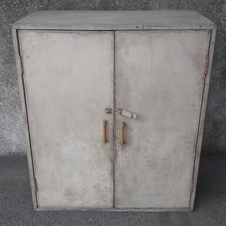 2 Door Wooden Cabinet with Handle
