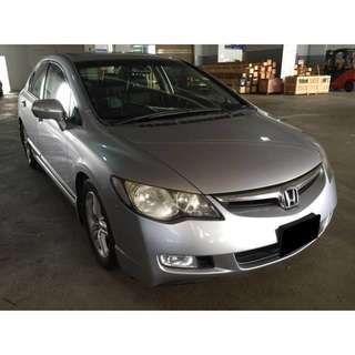 23/03-26/03/2018 HONDA CIVIC 2.0A ONLY $240.00 (P PLATE WELCOME)