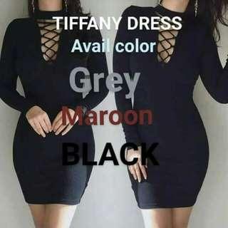 Tiffany long-sleeved dress