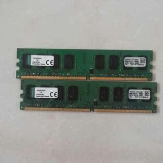Kingston RAM 2x 2gb ddr3 533mhz