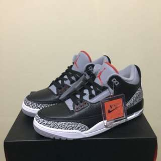 Air jordan 3 black cement Original