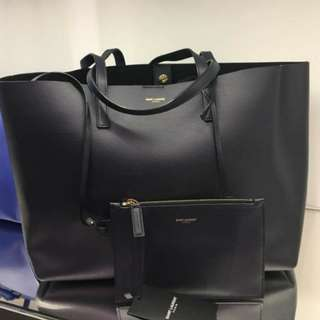 Ysl Tote Bag Navy Blue