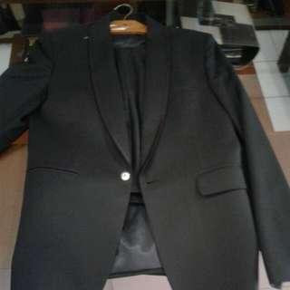 1 Stel Jas Bahan Wool
