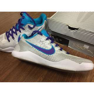 Nike AUTH Kobe 11 Ep Draft Day white court purple basketball shoes sneakers