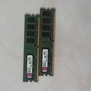 2x 2gb ddr2 Kingston desktop rams