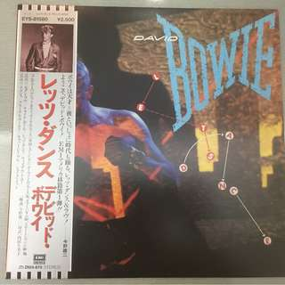 David Bowie ‎– Let's Dance, Japan Press Vinyl LP, EMI America ‎– EYS-81580, with OBI, 1983