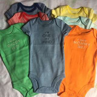 Carter's 7pcs baby onesies 0-3months