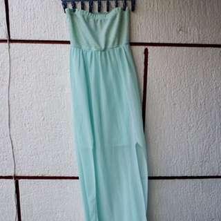 Rue 21 mint blue maxi dress