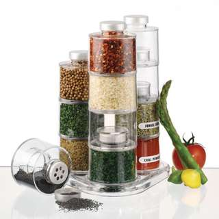Spice Tower Stacking Bottles with Sifter Lids