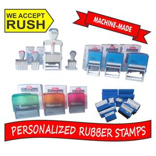 Rubber Stamp Customized, Traditional/Self-inking Stamps