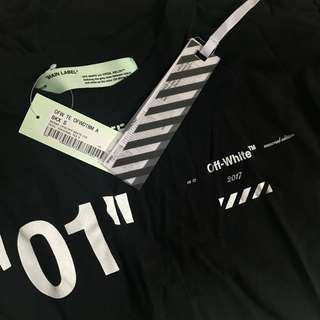 "Off white ""for all"" 01 tee + assc cap"