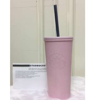 Starbucks Light Pink Stainless Steel Cold Cup 12oz. 20%off