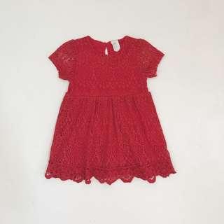 H&M lace dress 12-18M (P300)