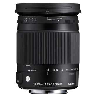 Limited offer Sigma 18-300mm f/3.5-6.3 DC MACRO OS HSM Contemporary Lens for Canon and Nikon