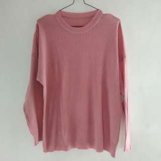 Sweater Rajut Dusty Pink
