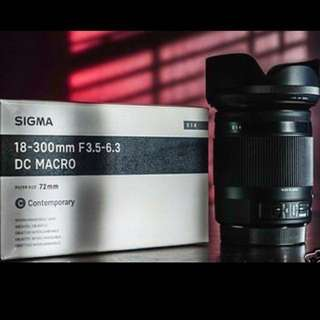Sigma 18-300mm f/3.5-6.3 DC MACRO OS HSM Contemporary Lens for Canon and Nikon