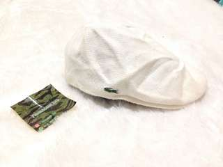Lacoste True White Flat Hat