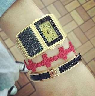 Casio DBC-611G Data Bank Calculator Gold Watch