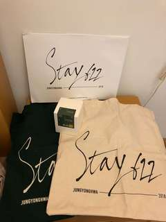 Stay 622 Candle + Green Eco Bags + Ivory Eco Bag CNBLUE Jung Yong Hwa