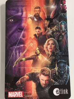 Limited Edition brand new Marvel Avengers infinity war Design ezlink Card For $13.90.