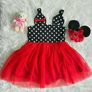 Dress Anak Bayi Minnie Polka tutu
