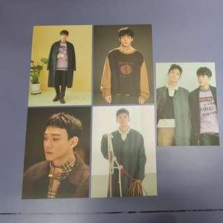 EXO Xiumin & Chen universe postcard