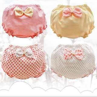 Baby bloomer 4pcs set-100%cotton