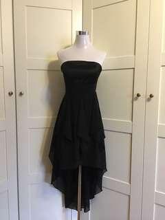 Black Tube Dress/ hi lo dress/ dnd dress/ evening gown/ prom dress/ dinner dress/ formal dress/
