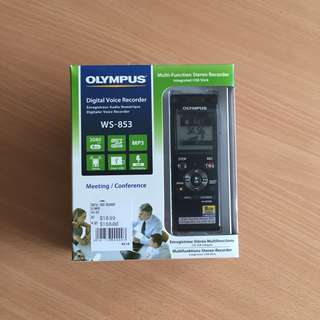 Olympus Digital Voice Recorder WS-853 (warranty included)