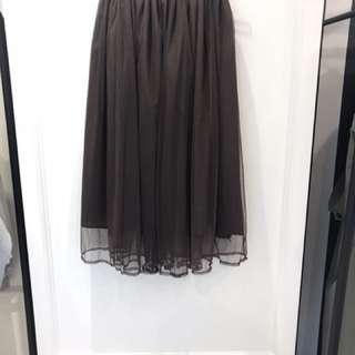 咖啡溫暖色系紗裙