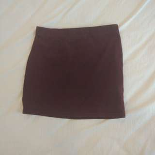 Wine Red Bodycon Skirt