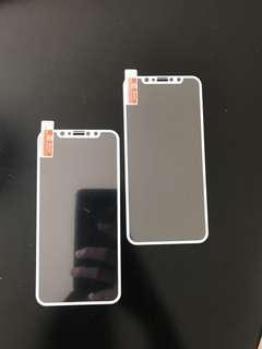 Iphone X 芒貼白色邊Mon貼@20一張 有兩張