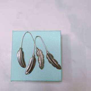 Silver Feather Stainless Earrings