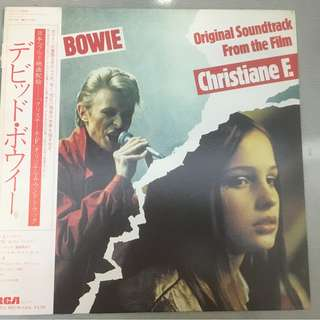 David Bowie ‎– Original Soundtrack From The Film Christiane F., Japan Press Vinyl LP, RCA ‎– RPL-8130, with OBI, 1982