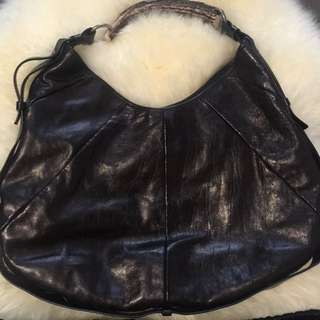 Authentic YSL deer horn Mombasa hobo purse