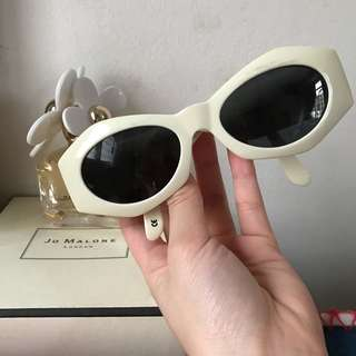 Authentic Vintage Versace White Sunglasses